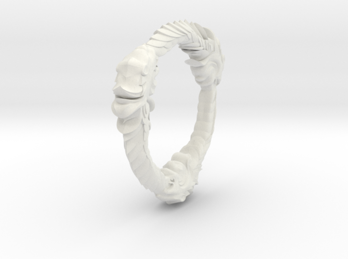 TripleOurouboros Lion Pendant 3d printed