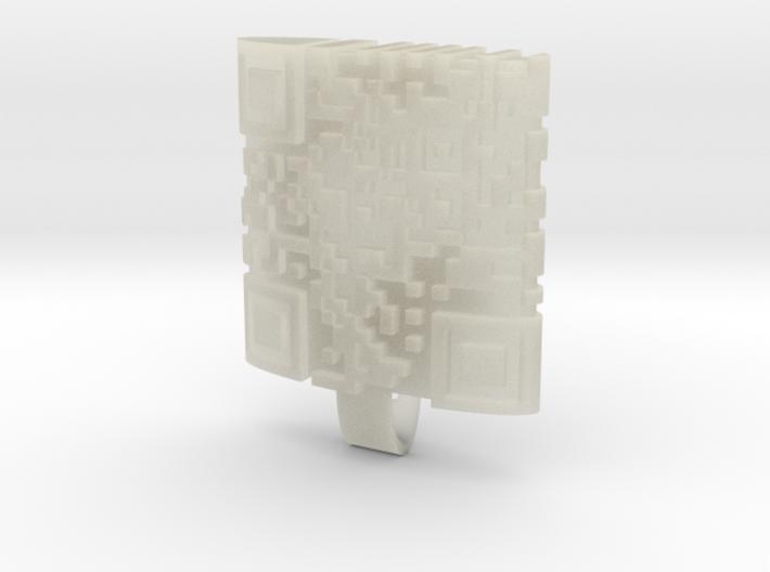 qr locket 3d printed