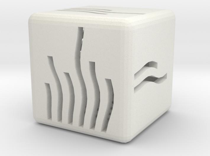Elemental Fire Die (Small) 3d printed