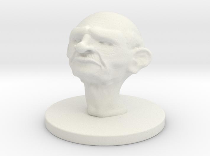 1 Inch Elderly Man 3d printed
