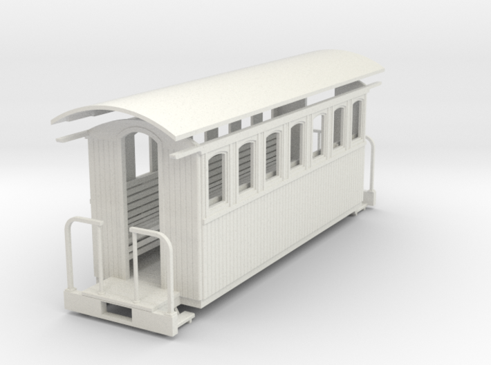 On30 20ft passenger car - 7 window 3d printed