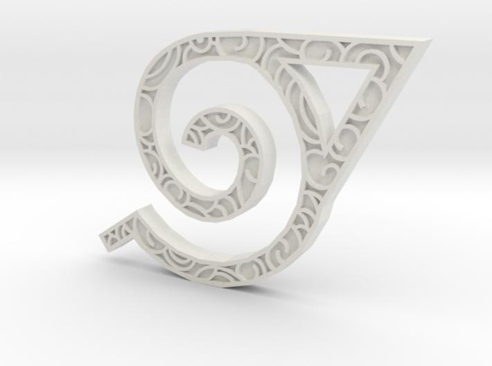 Hidden Leaf Pendant  3d printed