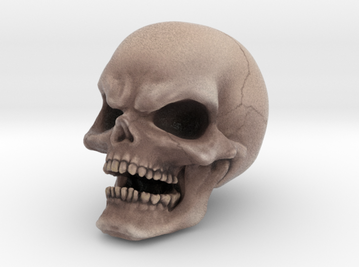 COLOR Evil Skull 3d printed