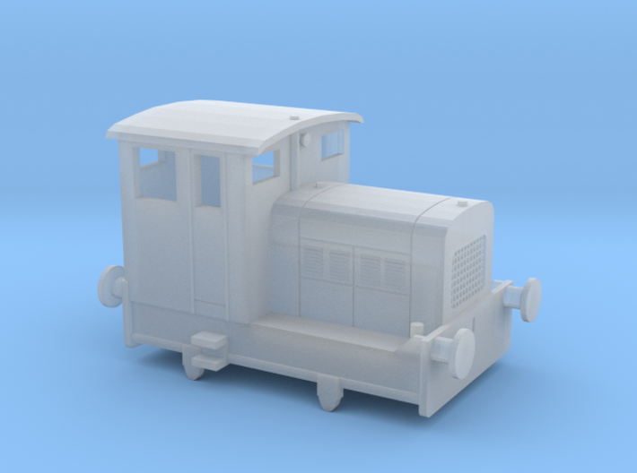 """Ruston 48DS N scale. About 6"""" (1mm) wider than acc 3d printed"""