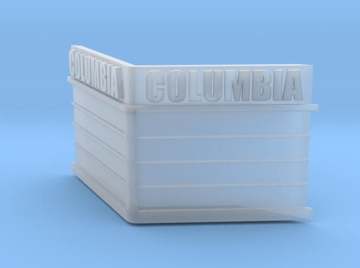 N-Scale Columbia Theater Marquee 3d printed