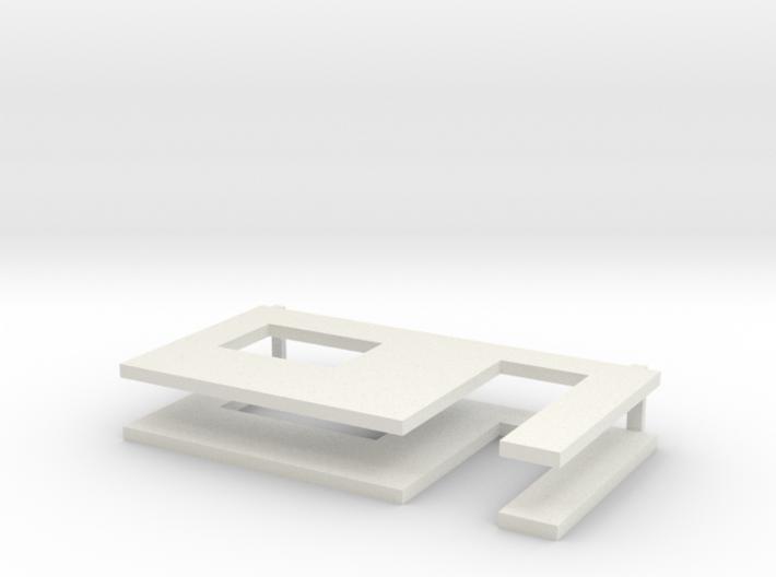 muren beton schaal 1:50 3d printed