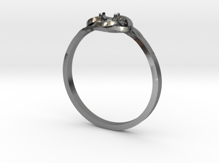 Bague Solitaire 3d printed