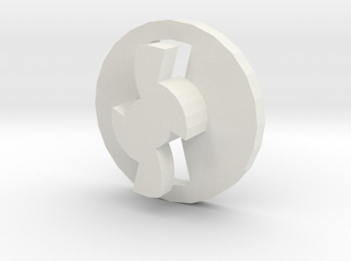 Airsoft midcap base component 3d printed