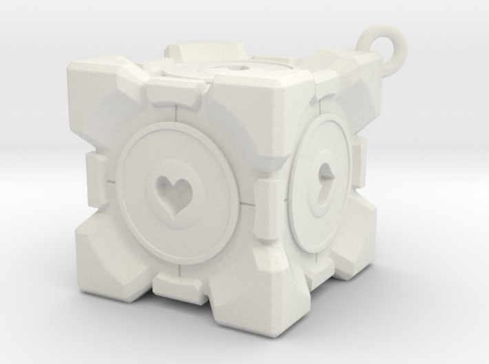 Companion Cube Necklace 3d printed