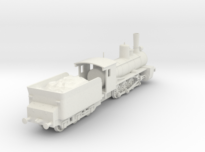 1/100 (15mm wargame) Soviet Ov class Steam Locomot 3d printed