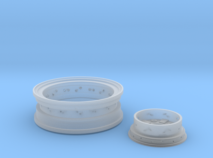 1/8 Front Wire Wheel (rim/hub) for 1/8 Revell Deuc 3d printed