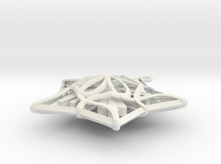 Captured Snowflake - Christmas Ornament 3d printed