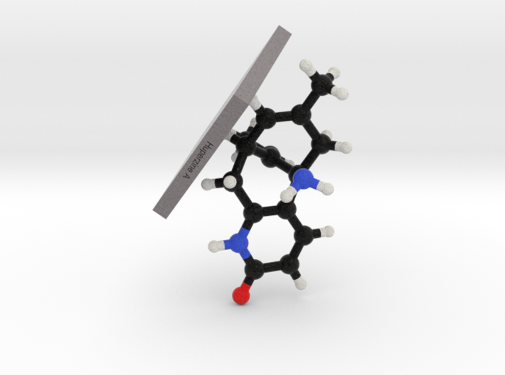 Huperzine A Molecule Model Mounted 3d printed