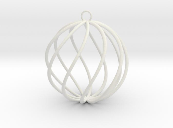 spiral christmas ball small 3d printed