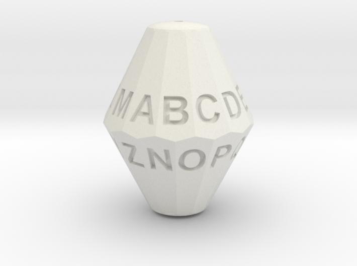D26 Alphabet Dice 3d printed