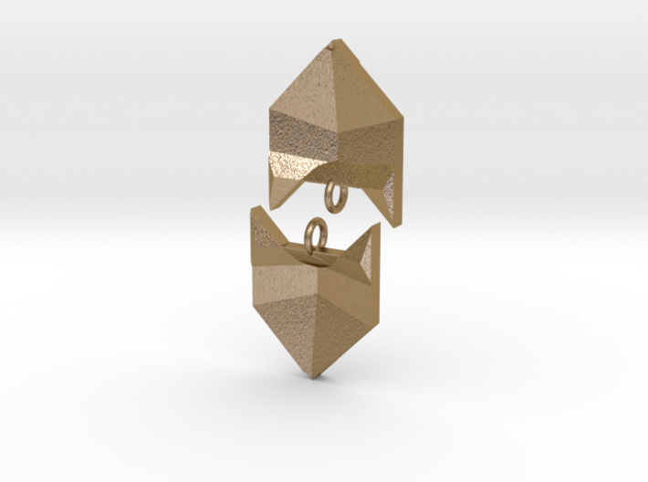 Foxy Geometric Earrings 3d printed