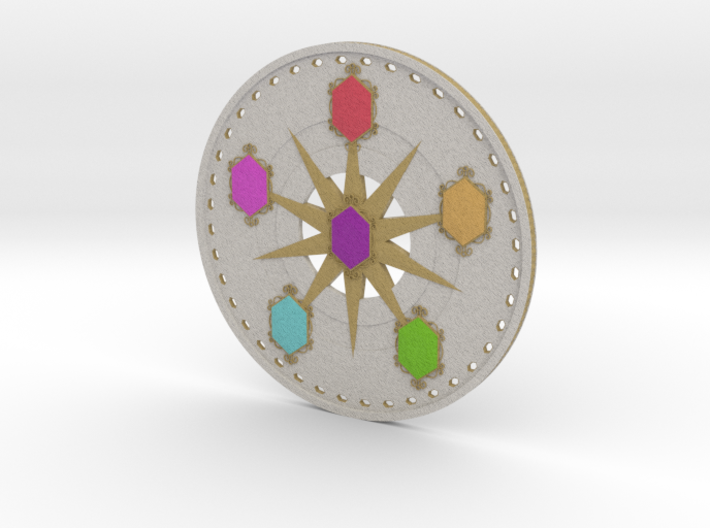 Elements of Harmony Challenge Coin 3d printed