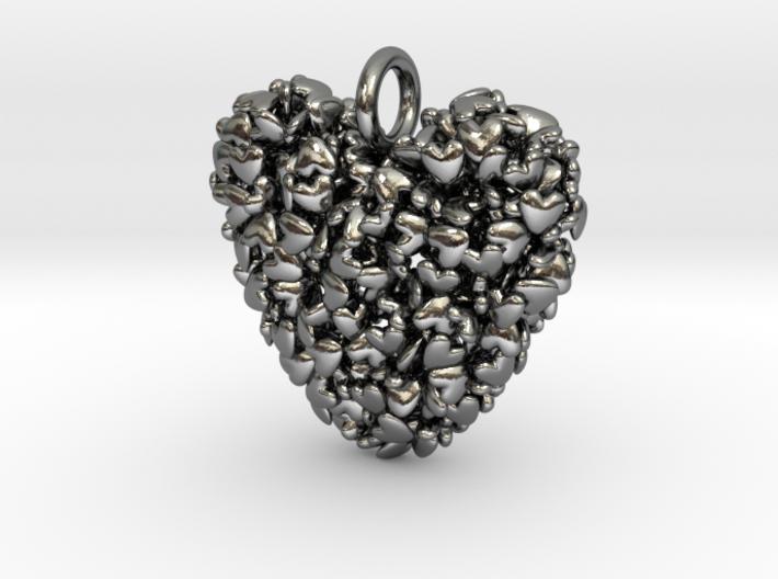 365 Hearts Pendant 3d printed
