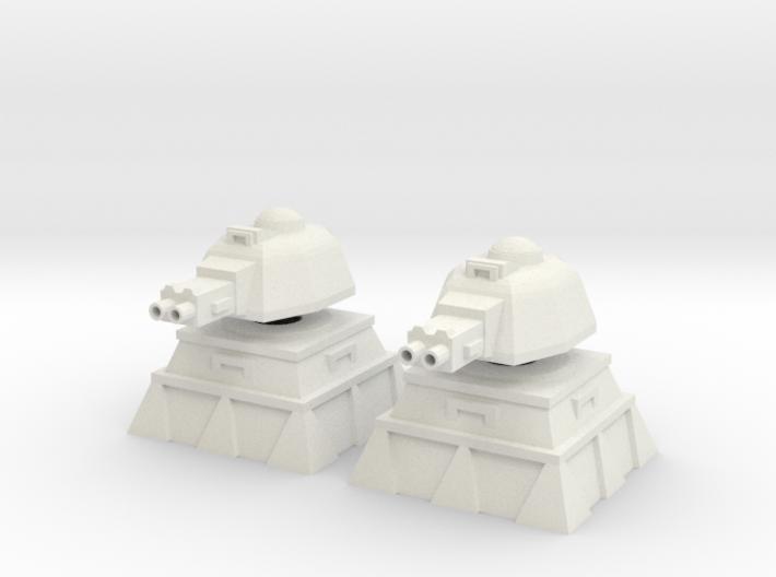 28mm Heavy Machinegun Turret and Bunker (x2) 3d printed