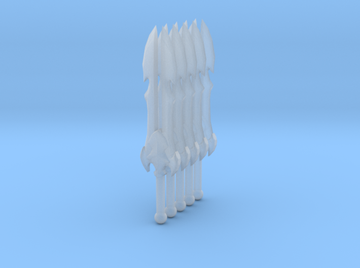 Sword 08 (double blade) 3d printed