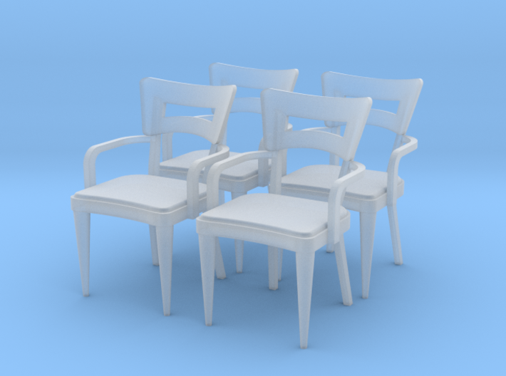 1:48 Dog Bone Chair, with Arms 3d printed