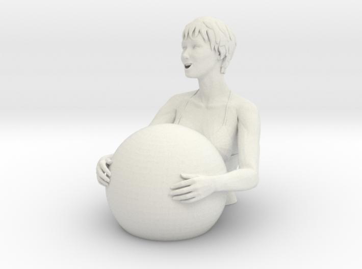 Bathers girl 3d printed