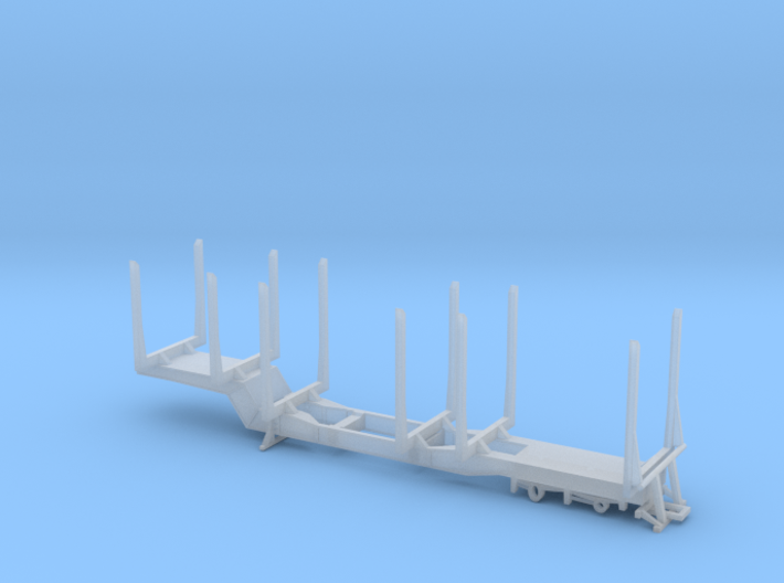 1/87th HO scale PITTS log trailer, 6 bunk version. 3d printed