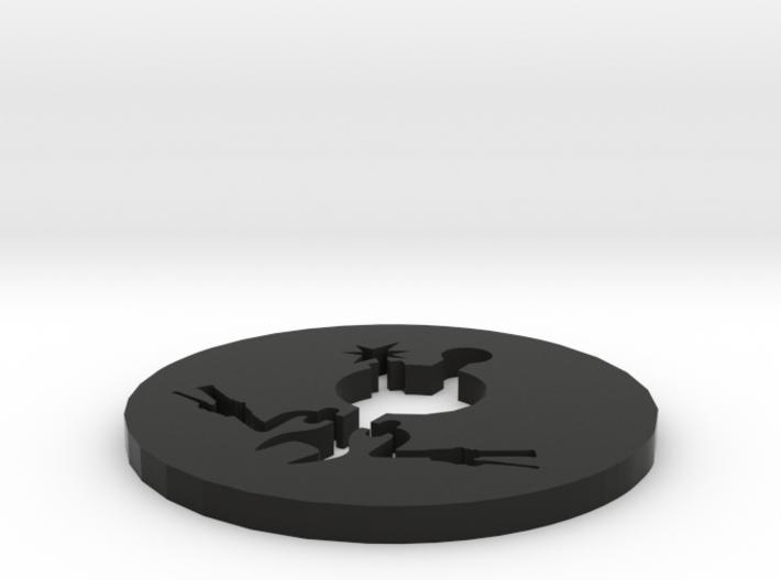 The AZ in steel or plastic 3d printed