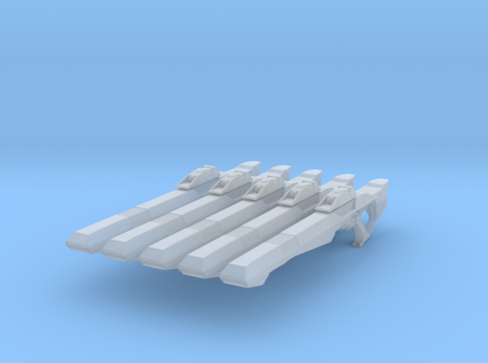 Compression Rifle 001a (x5) 3d printed