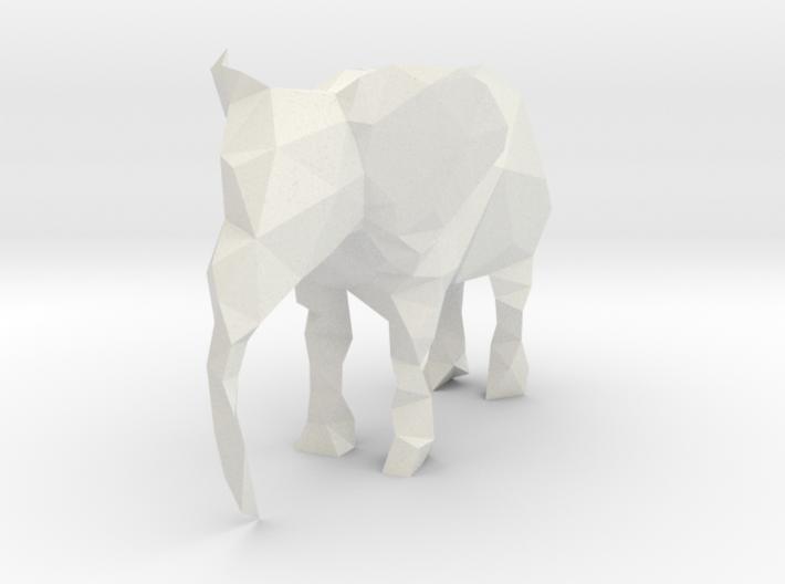 Polygon Elephant 3d printed