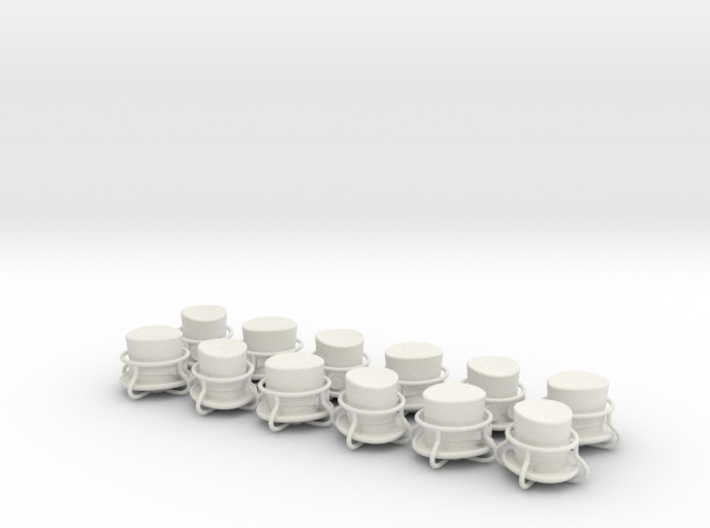 12 x top hat and goggles tire valve caps 3d printed