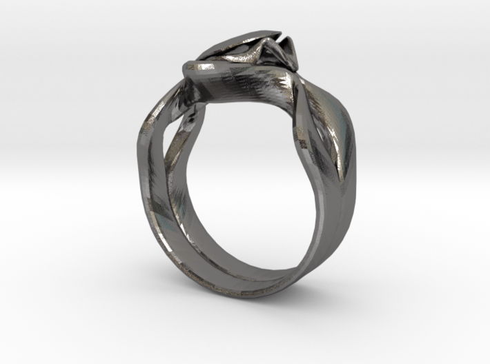 Lotus Ring 3d printed