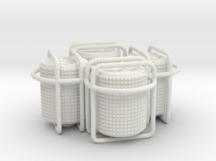 4x Round small choc tire valve caps 3d printed