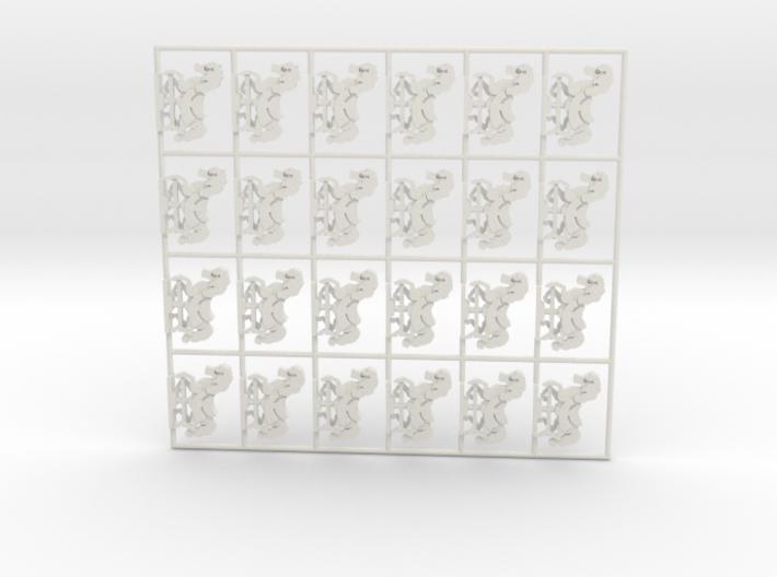 """""""Karussellpferde"""" 24 für 1:87 (H0 scale) 3d printed"""