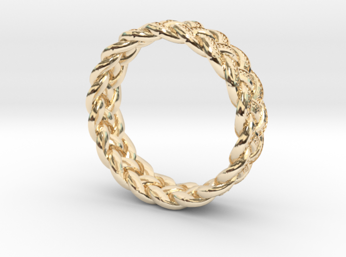 Celtic Knot Ring ~ size 9.5 (0.764 inch diameter) 3d printed