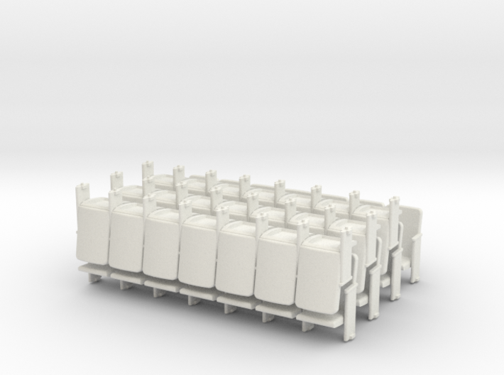 Theater Seats Ver E O Scale 7x7 3d printed