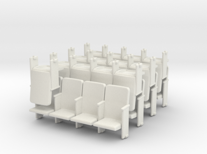 Theater Seats Ver E O Scale 4x7 and 1 single 3d printed