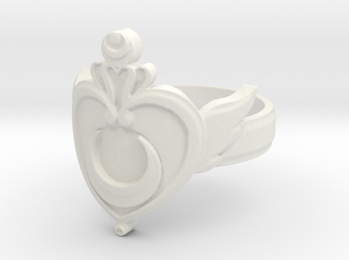 Crisis Moon Ring 6 open center Ring Size 6 3d printed
