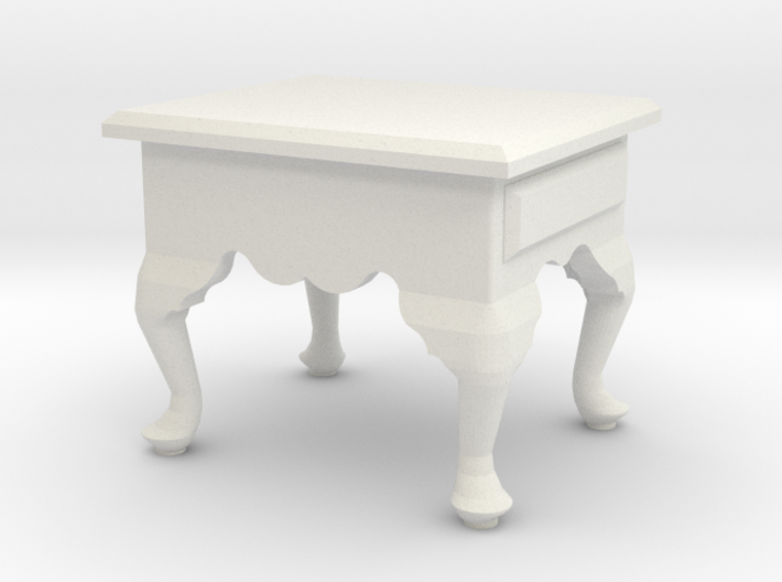 1:24 Queen Anne End Table, Short 3d Printed