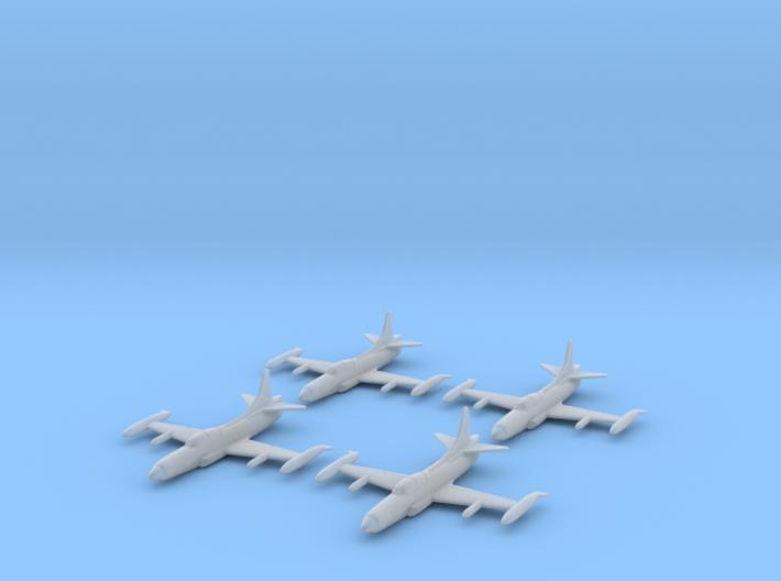 1/285 Lockheed F-94C Starfire (x4) 3d printed