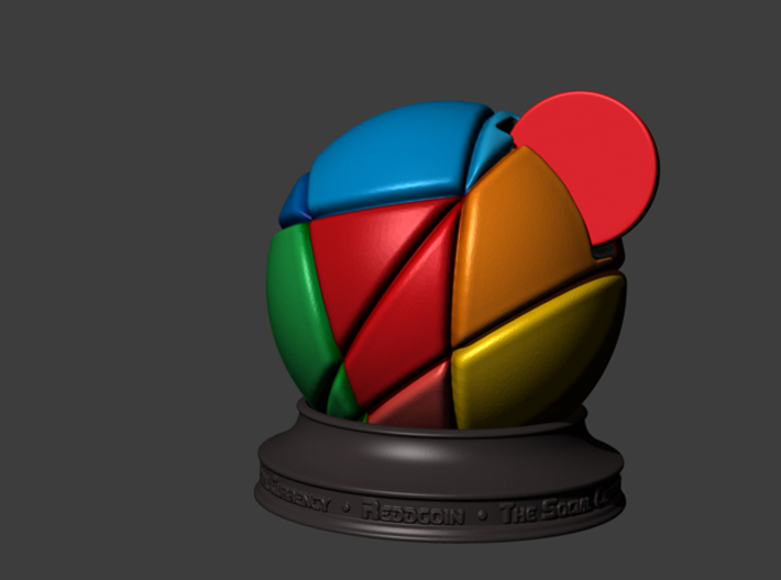 Reddcoin Spherical Logo - Stand 3d printed