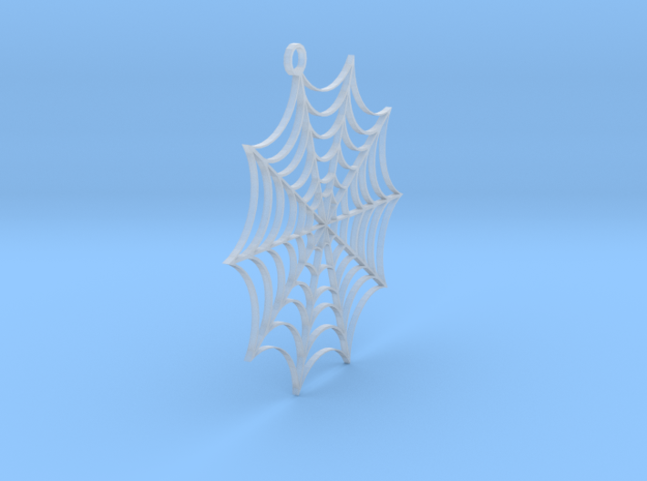 Spider web Earring No Spider 3d printed