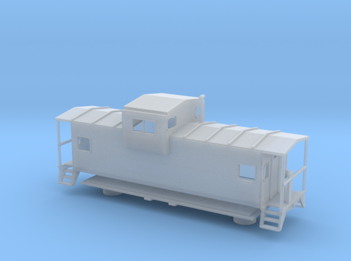 Widevision Caboose - Nscale 3d printed