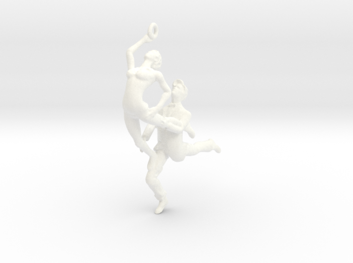 Dance LOVE Pendant-Earring 3d printed Dancing earring
