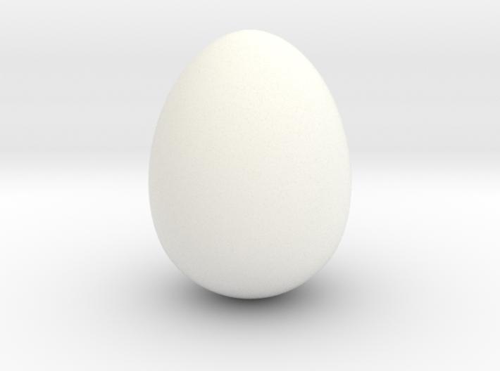 Cow bird egg smooth 3d printed