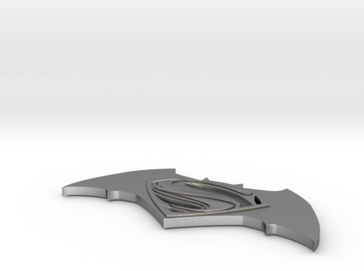 Batman vs Superman Logo 3d printed