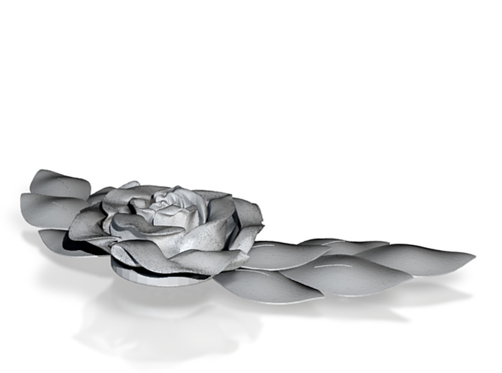 Rose Necklace 3d printed