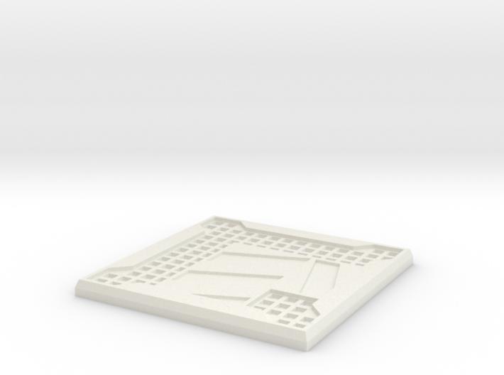 Sci-fi Mesh Floor Hazard L 3d printed