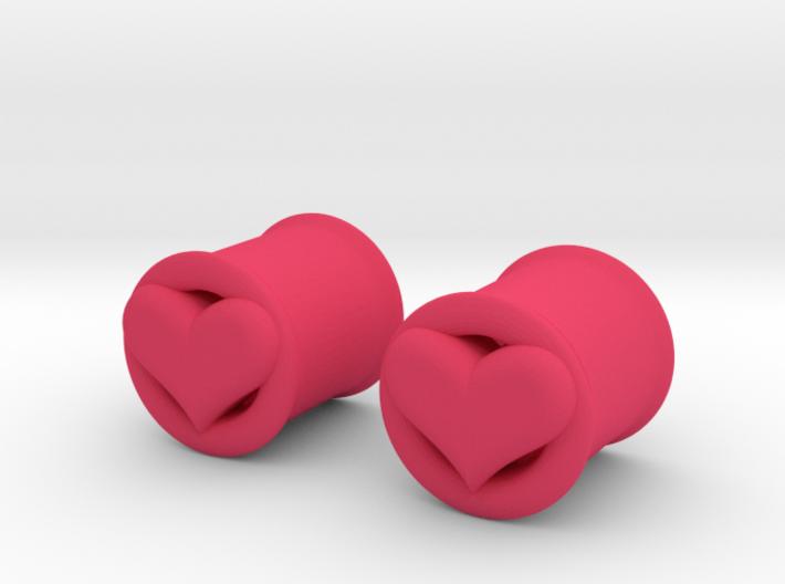 Heart 10mm (00 gauge) tunnels 3d printed