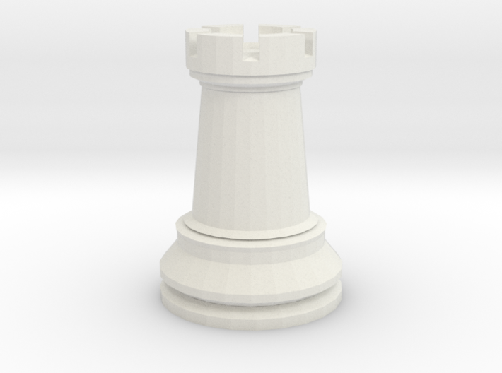 Large Staunton Rook Chesspiece 3d printed